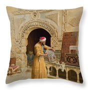 The Furniture Maker Throw Pillow by Ludwig Deutsch