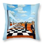 The Gallery Throw Pillow by Valerie Vescovi