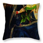 The Ghent Altarpiece The Virgin Mary Throw Pillow by Jan and Hubert Van Eyck