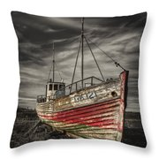 The Ghost Ship Throw Pillow by Evelina Kremsdorf