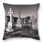 The Ghosts Of Ireland Throw Pillow by Robert Lacy