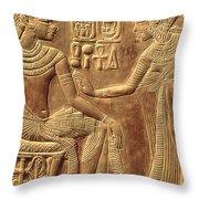 The Golden Shrine Of Tutankhamun Throw Pillow by Egyptian Dynasty