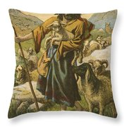 The Good Shepherd Throw Pillow by English School