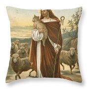 The Good Shepherd Throw Pillow by John Lawson