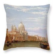 The Grand Canal - Venice Throw Pillow by George Clarkson Stanfield