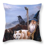 The Grand Parade Throw Pillow by J W Baker