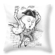 The Great Fall Throw Pillow by Adam Zebediah Joseph