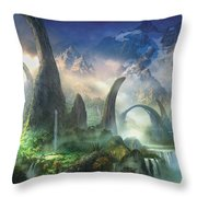 The Great North Road Throw Pillow by Philip Straub