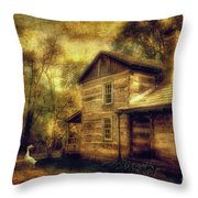 The Guardian Throw Pillow by Lois Bryan