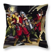 The Gunpowder Plot Throw Pillow by Ron Embleton