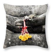 The Hand Of Buddha Throw Pillow by Adrian Evans