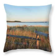The Harbor Square Throw Pillow by Bill Wakeley