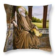 The Hermit Nascien Throw Pillow by Melissa A Benson