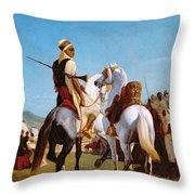 The Horse Of Submission Throw Pillow by Louis Eugene Ginain