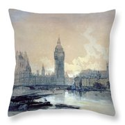 The Houses Of Parliament Throw Pillow by David Roberts