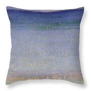 The Iles Dor Throw Pillow by Henri Edmond Cross