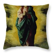 The Immaculate Conception Throw Pillow by Francisco de Zurbaran