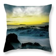 The Infinite Spirit  Tranquil Island Of Twilight Maui Hawaii  Throw Pillow by Sharon Mau