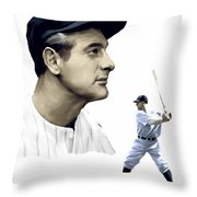 The Iron Horse  Lou Gehrig Throw Pillow by Iconic Images Art Gallery David Pucciarelli