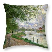 The Island Of La Grande Jatte Throw Pillow by Claude Monet