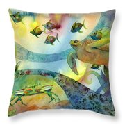 The Journey Begins Throw Pillow by Amy Kirkpatrick
