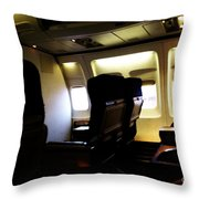 The Journey Begins Throw Pillow by Linda Shafer