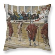 The Judgement on the Gabbatha Throw Pillow by Tissot