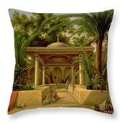 The Khabanija Fountain In Cairo Throw Pillow by Grigory Tchernezov