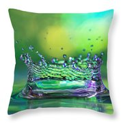 The Kings Crown Throw Pillow by Darren Fisher