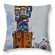 The Kuchlbauer Tower Throw Pillow by Juergen Weiss
