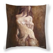 The Laces Throw Pillow by Sergey Ignatenko