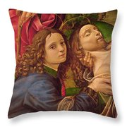 The Lamentation Of Christ Throw Pillow by Capponi