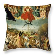 The Last Judgement Throw Pillow by Jan II Provost