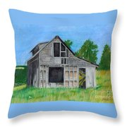 The Last Stage Stop Throw Pillow by Mendy Pedersen