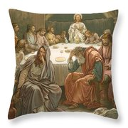 The Last Supper Throw Pillow by John Lawson