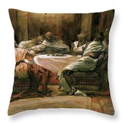 The Last Supper Throw Pillow by Tissot