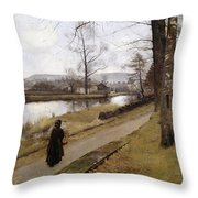 The Last Turning Throw Pillow by James Paterson