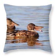 The Laughing Duck Throw Pillow by Wingsdomain Art and Photography