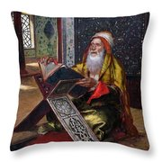 The Lectern Throw Pillow by Ernst Rudolphe