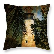 The Lighthouse In Key West Throw Pillow by Susanne Van Hulst
