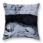 The Lion Of Lucerne Throw Pillow by Dan Sproul