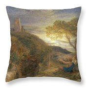 The Lonely Tower Throw Pillow by Samuel Palmer