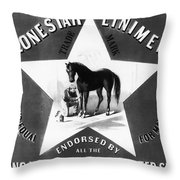 The Lonestar Liniment Throw Pillow by Bill Cannon