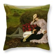 The Lovers Throw Pillow by Pal Szinyei Merse