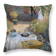 The Luncheon Throw Pillow by Claude Monet