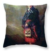 The Macnab Throw Pillow by Sir Henry Raeburn