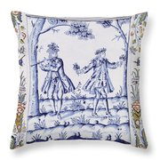 The Magic Flute Throw Pillow by French School