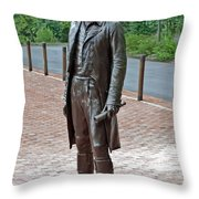 The Man Behind Monticello Throw Pillow by DigiArt Diaries by Vicky B Fuller