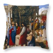 The Marriage at Cana Throw Pillow by Julius Schnorr von Carolsfeld