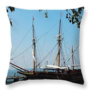 The Maryland Dove Ship Throw Pillow by Thomas R Fletcher